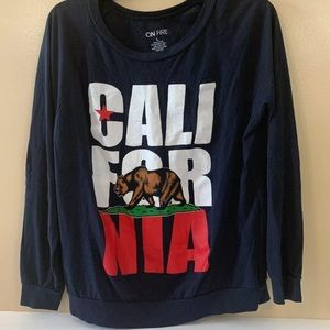 On Fire California Long Sleeve Nice Large Women
